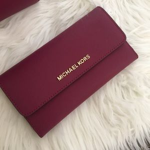 Michael Kors Large Jet set trifold wallet only